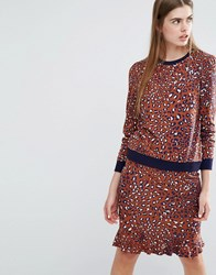 Baum Und Pferdgarten Ermina Sweat Top In Leopard Print Multi
