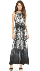Twelfth St. By Cynthia Vincent Sleeveless Tie Back Maxi Dress Cathedral Print