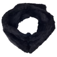 French Connection Lily Faux Fur Headband Black