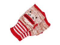 San Diego Hat Company Kng3140 Knit Sock Monkey Fingerless Gloves Red Brown Sockmonkey Extreme Cold Weather Gloves Multi