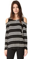 Chaser Long Sleeve Cold Shoulder Tee Stripe