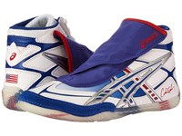 Asics Cael White Blue Red Men's Wrestling Shoes Multi