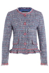 Boutique Moschino Boucle Jacket Blue