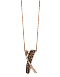 Levian Chocolate Diamond Pendant In 14 Kt. Strawberry Gold 0.92 Ct. T.W. 14K Rg