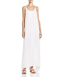 Boho Me Handkerchief Hem Maxi Dress Swim Cover Up White