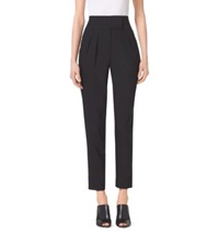 Michael Kors Pleated High Waist Stretch Trousers Black