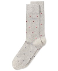 Hugo Boss Men's Dot Pattern Dress Socks Silver