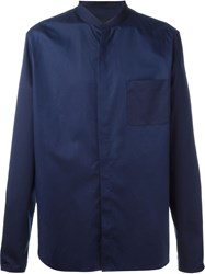 Juun.J Mandarin Collar Shirt Blue