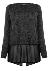 Oasis Sparkle Chiffon Knit Black