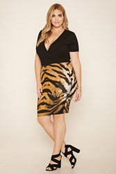 Forever 21 Plus Size Eye Of The Tiger Bodycon Skirt