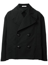 J.W.Anderson Oversized Cropped Peacoat Black