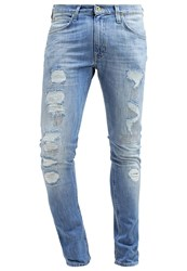 Lee Luke Slim Tapered Slim Fit Jeans Blue Trash Destroyed Denim