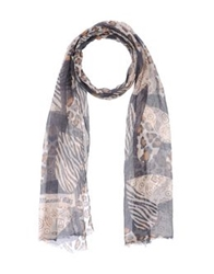 Manuel Ritz Oblong Scarves Dark Blue