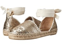Marchesa Cathy Gold Canvas Women's Flat Shoes