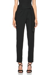 Jay Ahr High Waisted Acetate Blend Pants In Black