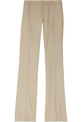 Gucci Flared Wool Blend Pants Beige