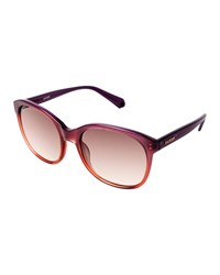 Balmain Gradient Rectangle Plastic Sunglasses Plum