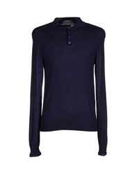 Dandg Knitwear Jumpers Men Dark Blue