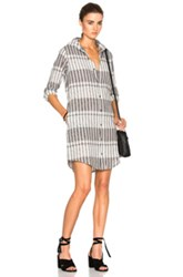 Current Elliott Prep School Shirt Dress In Black Gray Stripes