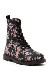 Charles Albert Printed Lace Up Boot Blue