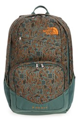 The North Face 'Wise Guy' Backpack Green Green Iconversational Print