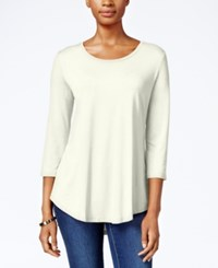Jm Collection Scoop Neck Top Only At Macy's Eggshell