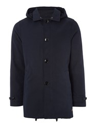 Scotch And Soda Hooded Trench With Parka Dark Navy