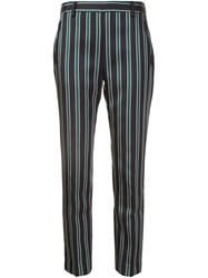 Tomas Maier Striped Tapered Trousers Black