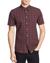 Ps Paul Smith Rose Print Slim Fit Button Down Shirt Multi