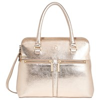 Modalu Small Pippa Leather Grab Bag Gold