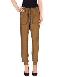 Pinko Black Trousers Casual Trousers Women Brown