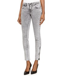 Stella Mccartney Acid Wash Denim Skinny Jeans Gray
