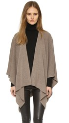 Vince Luxe Cashmere Poncho Toast