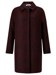 John Lewis Collection Weekend By Cocoon Coat Dark Red