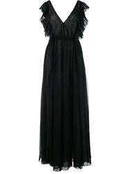 Philosophy Di Lorenzo Serafini Sleeveless Broderie Anglaise Full Length Dress Black