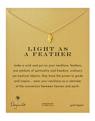 Dogeared Feather Charm Necklace Gold