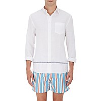 Solid And Striped Men's The Button Down Linen Shirt White