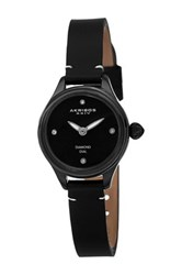 Akribos Xxiv Women's Diamond Strap Watch Black