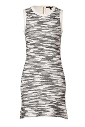Derek Lam Cotton Blend Flared Dress In Black White Grey
