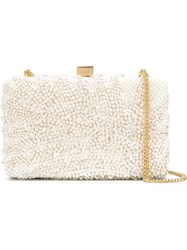 Elie Saab Sequinned Clutch White