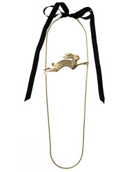Lanvin Rabbit Necklace Metallic