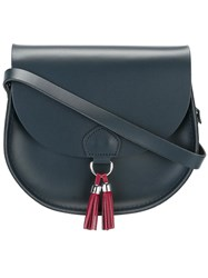 The Cambridge Satchel Company Tassel Detail Saddle Bag Blue