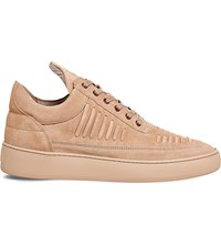 Filling Pieces Low Top Suede Trainers Rose Suede