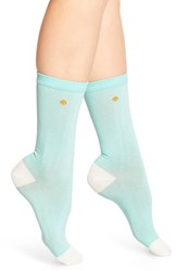 Women's Kate Spade New York Colorblock Crew Socks Green Fresh Mint