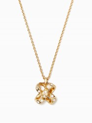 Kate Spade It's A Tie Bow Mini Pendant Clear Gold