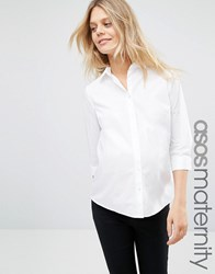 Asos Maternity Shirt With 3 4 Sleeve White