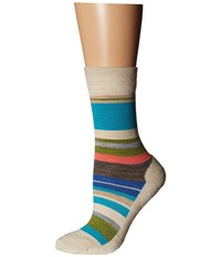 Smartwool Saturnsphere Natural Stripe Women's Crew Cut Socks Shoes Neutral