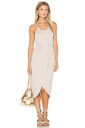 Michael Stars Alina Wrap Halter Dress Beige