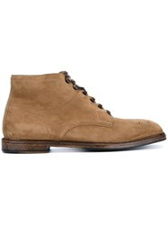 Dolce And Gabbana Brogue Boots Brown