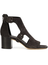 Rag And Bone Buckled Panel Sandals Black